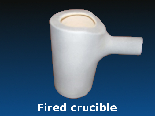 Fired crucible