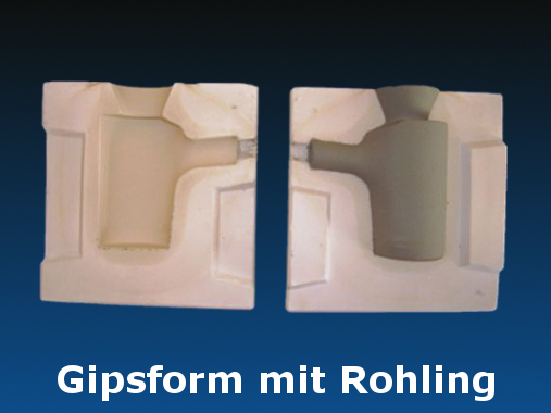 Gipsform mit Rohling