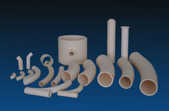 Pipe bends and pipes made up of Aluminium Oxide