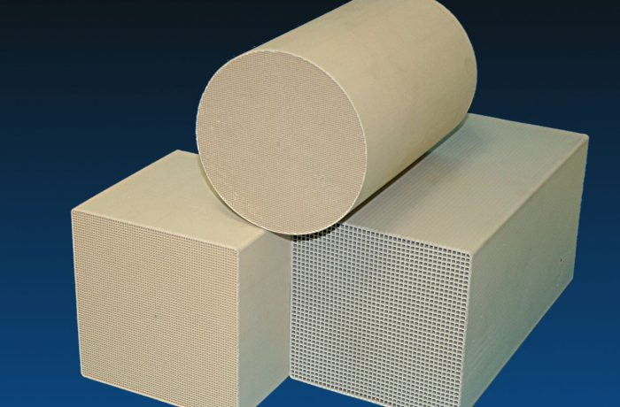 Ceramic honeycombs for heat exchanger applications